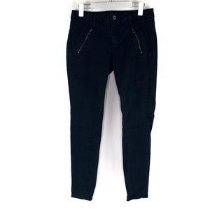 American Eagle Moto Jeans Jegging Skinny Black 12